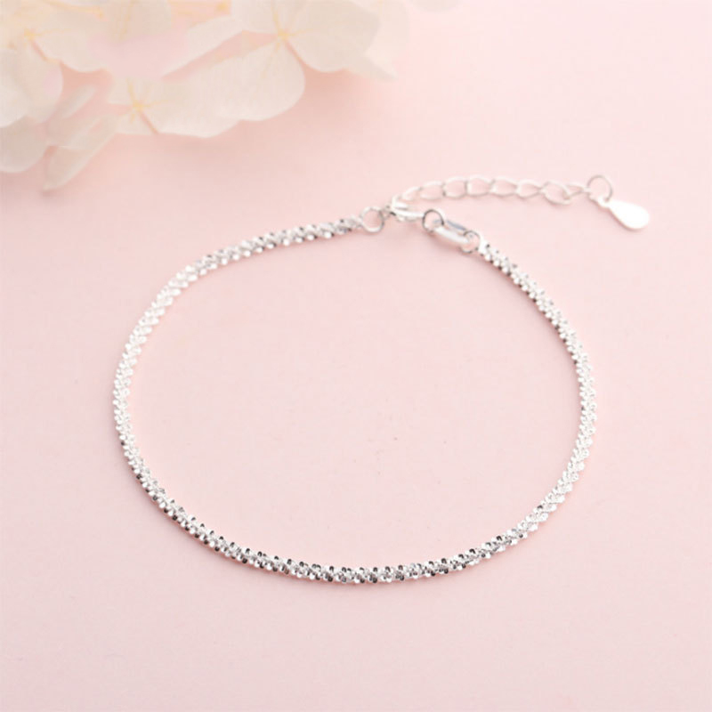 925 Sterling Silver Bracelets For Women Girls Kids Exquisite Fashion Fine Bracelet Femme Minimalist Hand Jewelry Girlfriend Gift