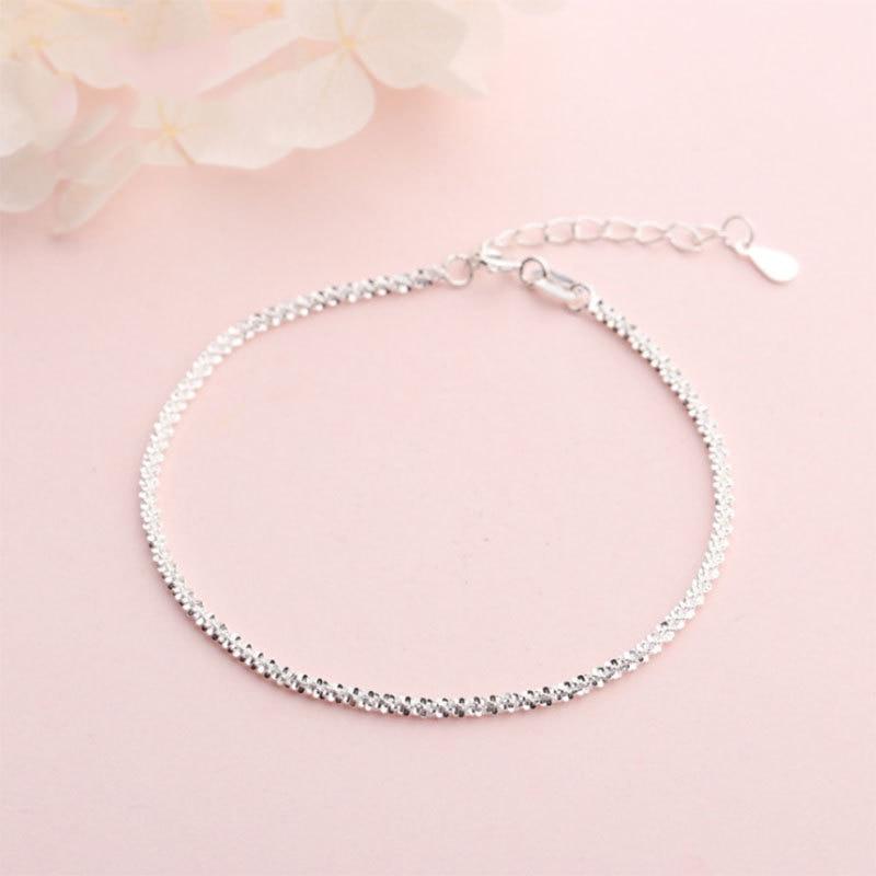 925 Sterling Silver Bracelets For Women Girls Kids Exquisite Fashion Fine Bracelet Femme Minimalist Hand Jewelry Girlfriend Gift