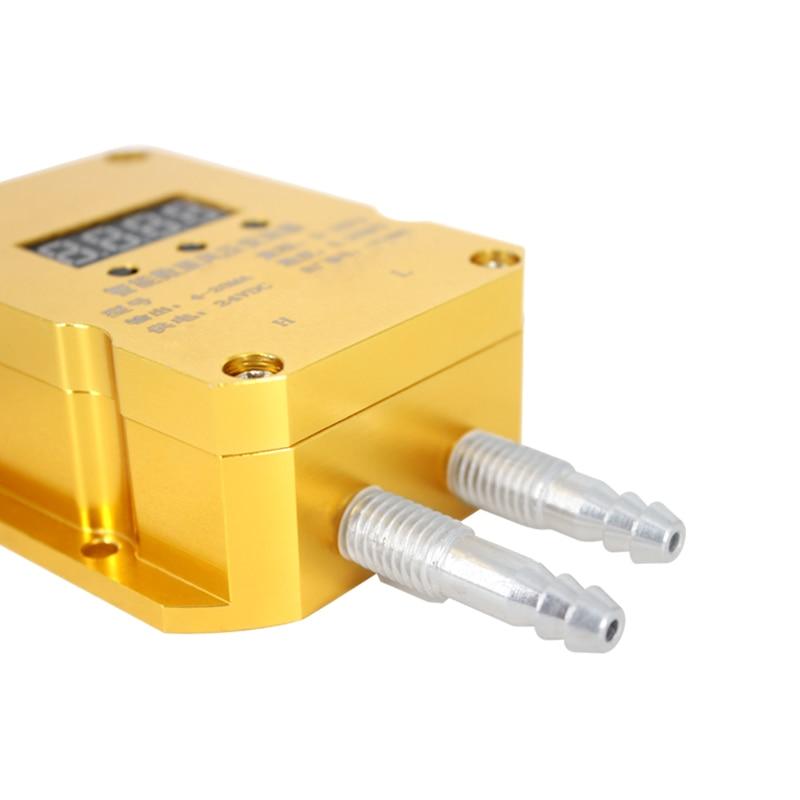 QDF70B 4-20mA transmetteur de différence de pression 0-2KPa affichage numérique chaudière à gaz Mine de charbon capteur de transmetteur de pression éolienne - 2