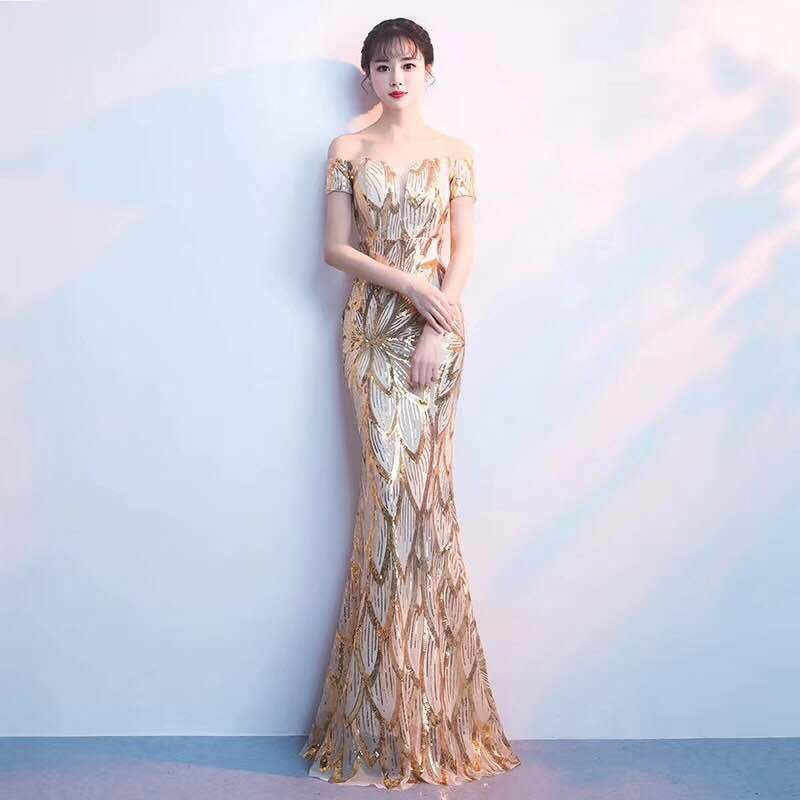 b4abcdb3b7190 Sexy Halter Long Mermaid Dress Women Retro Sequins Strapless Party Maxi  Dresses Solid Slim Fit Fishtail