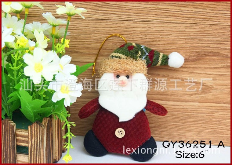 QY36251ABC-3-Christmas-Ornaments-Dolls-Santa-Claus-Snowman-Reindeer-Xmas-Decoration-Father-Christmas-Little-Hang-