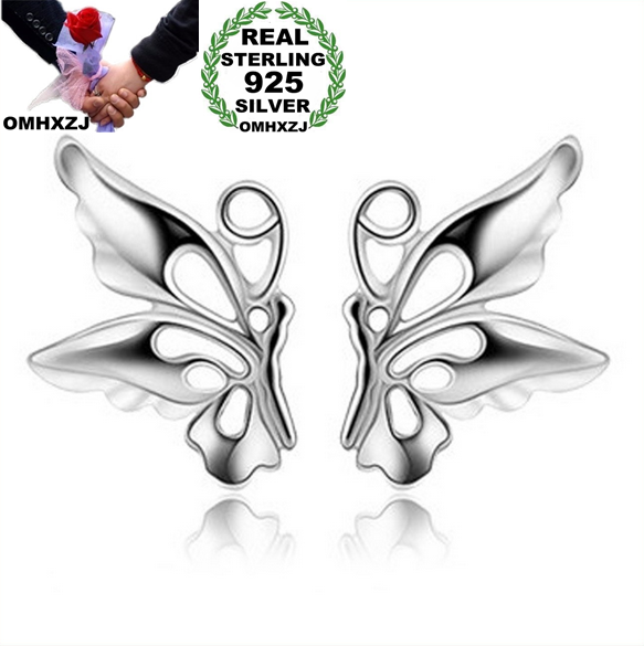 OMHXZJ Wholesale Fashion Men man woman girl jewelry Daisy Flower Rabbit flying butterfly 925 sterling silver Stud Earrings YS07