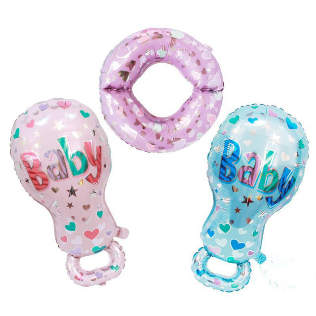 2pcs/set Baby Nurse Nipple foil balloons birthday party decorations globos inflatable helium balloon baby shower classic toys