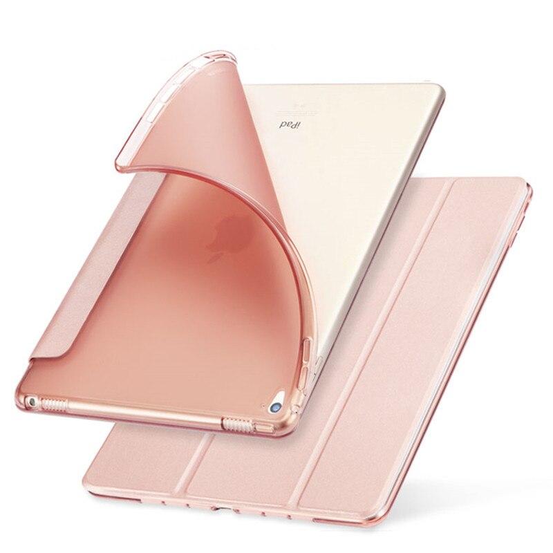 Cas de couverture pour Apple iPad Mini 1/2/3 TPU Silicone de Couverture Arrière pour iPad Mini 4 Flip stand Protéger Tablet Cas Capa Para + Film + Stylo