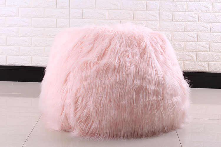 Tamanho da Tampa do Saco de feijão Espreguiçadeira Cadeiras de assento de Sofá móveis da sala Sem Enchimento Beanbag Camas assento preguiçoso Pufes zac