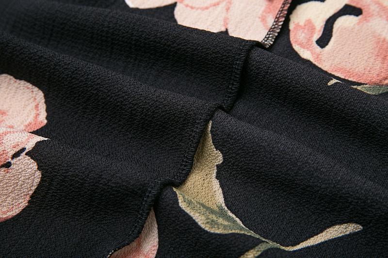 BONGOR LUSS Summer Maxi Dress Women Floral Print Dress V-Neck Sleeveless Spaghetti Strap Backless Side Split Sexy Long Dress (2)