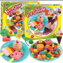 Дети 3d тесто пластилин play doh handgum fimo полимерной глины лепка из глины мягкий поделки игрушки экологически чистые 4 стили