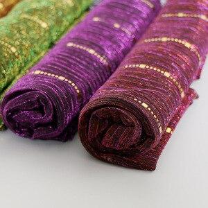 Image 5 - Beautiful! Magic filament Sequin Muslim Women Hijabs Shimmer Shawl Hijabs Wrinkles Islamic Wedding Veil Scarves Head Cover
