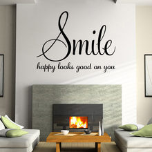 Ordinaire Family Words Smile Quotes Wall Sticker Poster Living Room Bedroom Wall  Stickers Home Decoration Vinyl Wall Decals Quotes Sayings