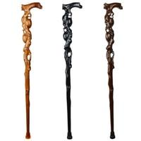 Grandpa Walking Sticks Hand Carven Canne Luxury High Grade Birthday Gift Monolith Real Natural Solid Wood Hand Crutch Mahogany
