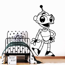 New robot Wall Art Decal Decoration Fashion Sticker For Living Room Bedroom Wall Decal Home Decor linen sofa cushion four seasons universal european non slip cushion sofa cover towel