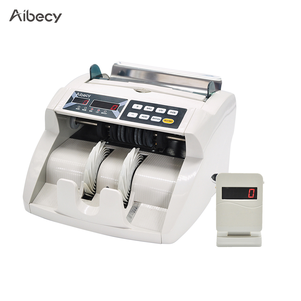 цена на Aibecy Desktop Multi-Currency Automatic Cash Banknote Money Bill Counter Counting Machine LED Display for EURO/USD/GBP/AUD/JPY