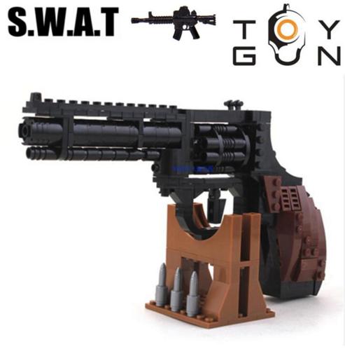 P22511 ausini swat magnum revolver pistola modelo de pistola armas de energía montado bloques de construcción de ladrillos de juguete conjuntos compatiable con