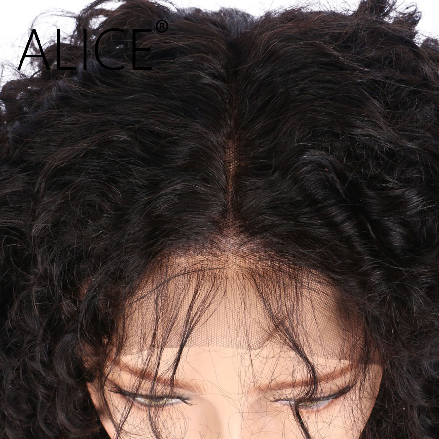 ALICE 360 Frontal Wig Bleacked Knots Brazilian Curly Human Hair Wigs  (6)