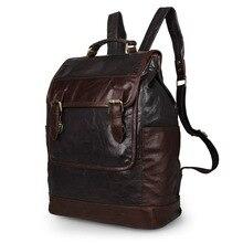 Nesitu Vintage Real Skin Genuine Leather Men / Women Backpacks