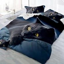 New Animal 3D Bedding Set Luxury Europe and America Design Soft Cat Printing Duvet Cover Pillowcase Beddding