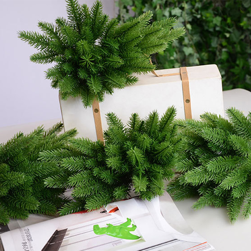 5 Pcs Artificial Plants Pine Branches Christmas Tree Accessories DIY New Year Party Decorations Xmas Ornaments Kids Gift A4520