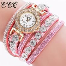 CCQ watches women fashion watch 2016 Luxury Brand rhinestone Analog Quartz watch crystal montre femme Bracelet Watch masculino