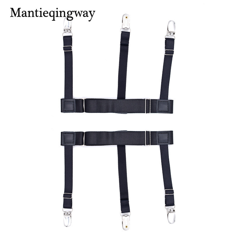 Men's Shirt Suspenders Stays Holder For Shirt High Elastic Uniform Business Style Suspender Shirt Garters For Men