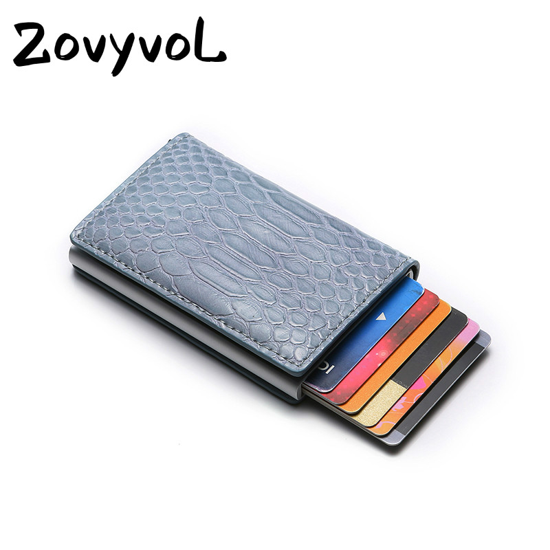 ZOVYVOL NEW Rfid Blocking ID Credit Card Holders PU leather Men Wallets Money Bag Smart Mini Magic Wallet Male Women
