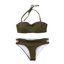 Bikiny Set 2019 Woman Swimsuit Separate Push Up Women Bikini Sexy Biquine Off Shoulder Top Swim