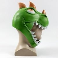 Crocodile Dinosaur Game Battle Royale Rex Cosplay props Mask Green Dinosaur Full Face Masks Women Men Halloween