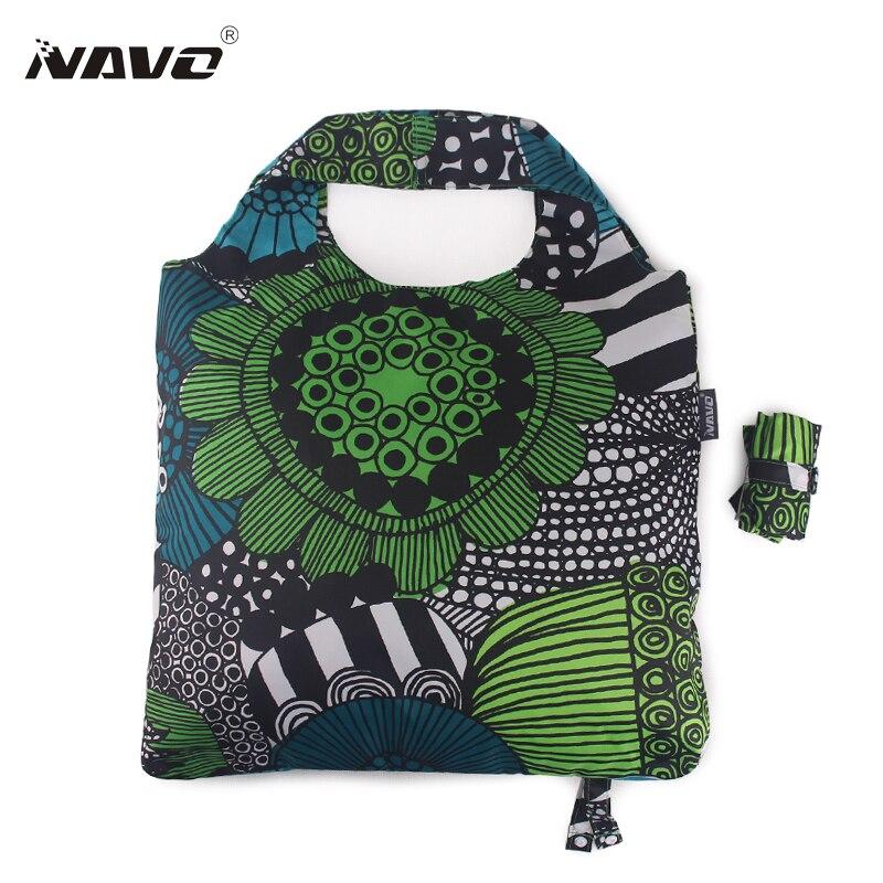 NAVO Brand Pongee fabric shoping font b bag b font foldable reusable grocery font b bags