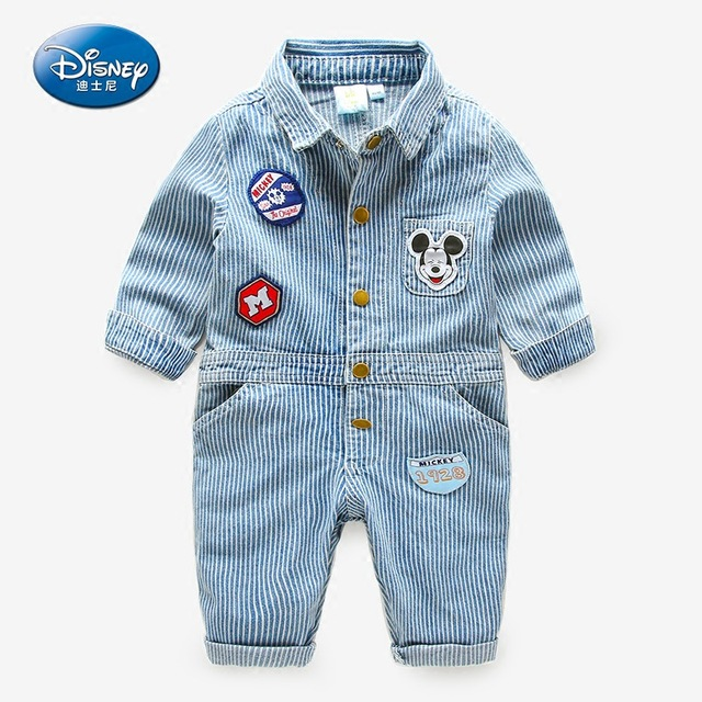 acc4dbd57d50 Disney Baby Clothing autumn spring outfit Rompers Cotton Cartoon Mickey  Mouse 2017 new clothes children Size 80cm to 120cm