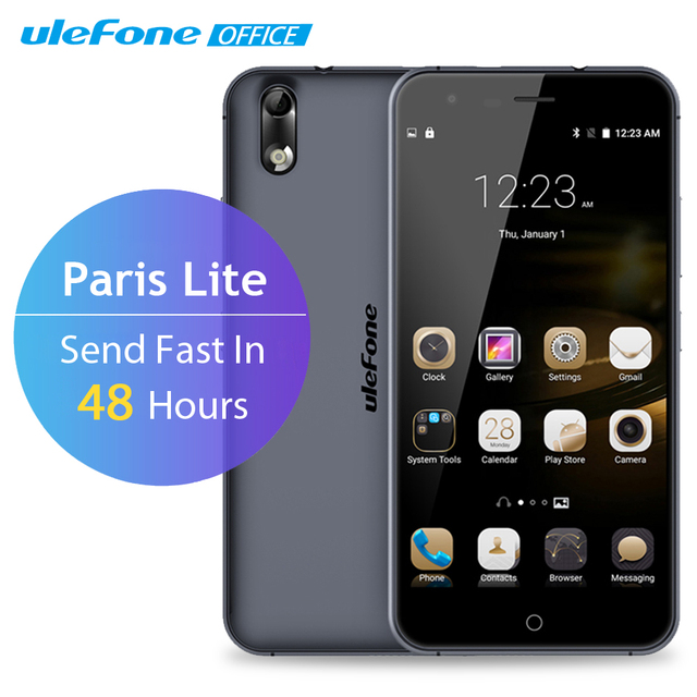 Ulefone Paris Lite Mobile Phone 5 inch HD MTK6580 Quad Core Android 5.1 1GB RAM 16GB ROM 13MP CAM 3G WiFi Dual Sim Smartphone