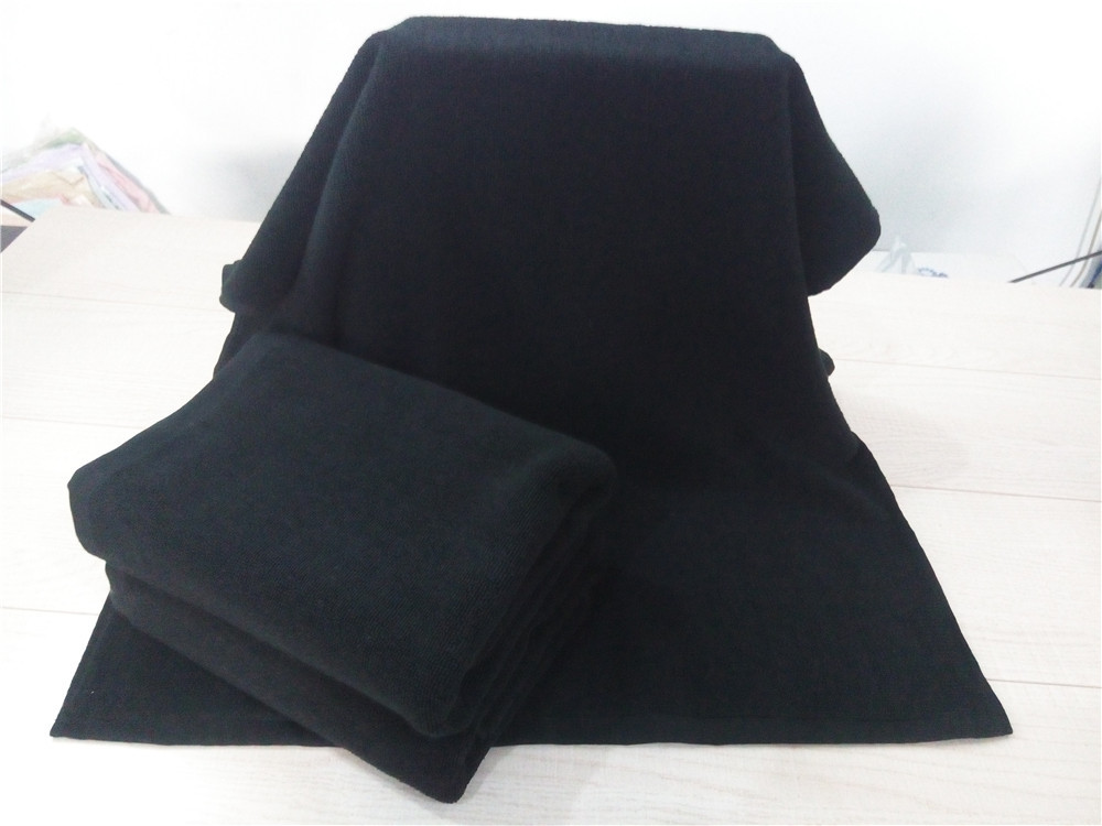 New Big Thickening Black Solid Cotton Bath Towel toalha de banho High quality Luxury Hotel Bath