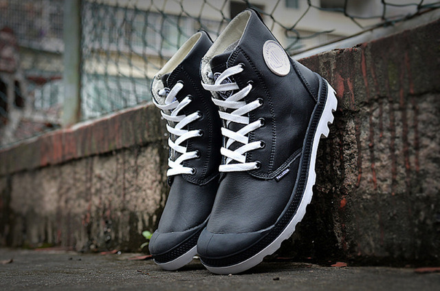 PALLADIUM Women black and white Medium Soldiers Sneakers Female Footwear  Boots Leather Ankle Boots 36-40 829669337