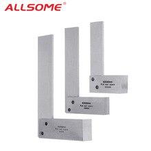 ALLSOME машинист квадратный 90 градусов правый угол инженерный набор точность заземления сталь закаленная угловая линейка HT2059-2064