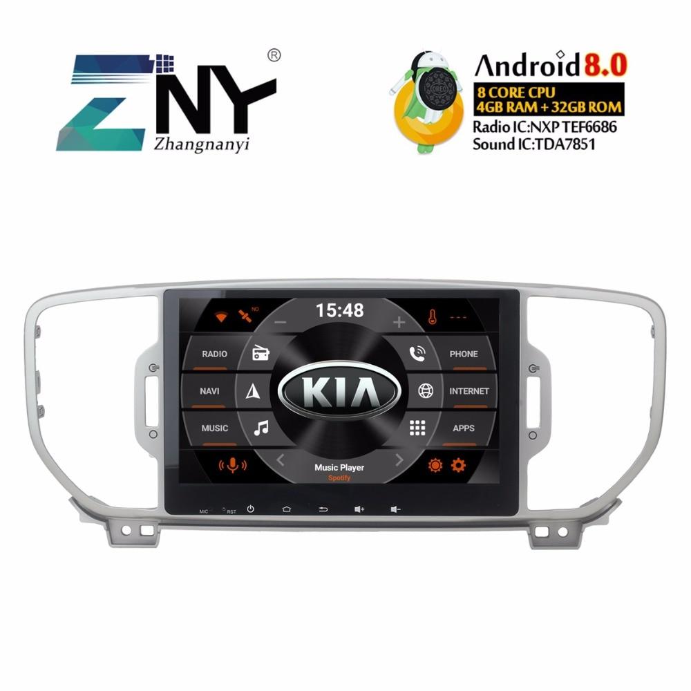 "9"" Android 8.0 Car Stereo 2 Din Auto Radio For Kia Sportage 2016 2017 2018 Multimedia GPS Navigation 4+32 GB No DVD Gift Camera"