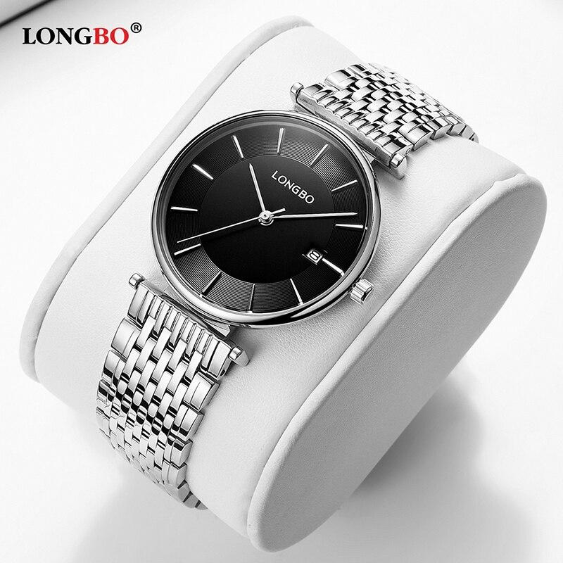 LONGBO 2020 New Fashion Men Women Watches Waterproof Steel Strip Lover's Quartz Wristwatch Casual Couple Watch Gifts 5111