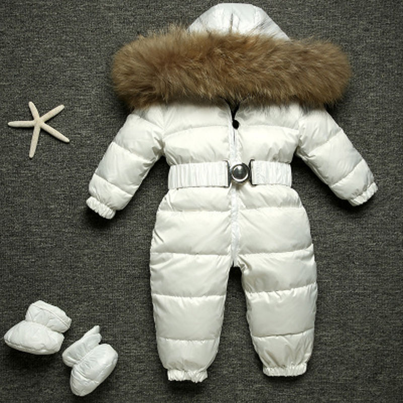 Newborn Winter Romper Ski Suit Baby Snowsuit Infant Overcoat Kids Snow Wear Jumpsuit 90% Duck Down Child Costumes Overalls E165
