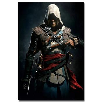 Шелковый Плакат гобелен Кредо убийцы Assassins Creed 3 вариант 2