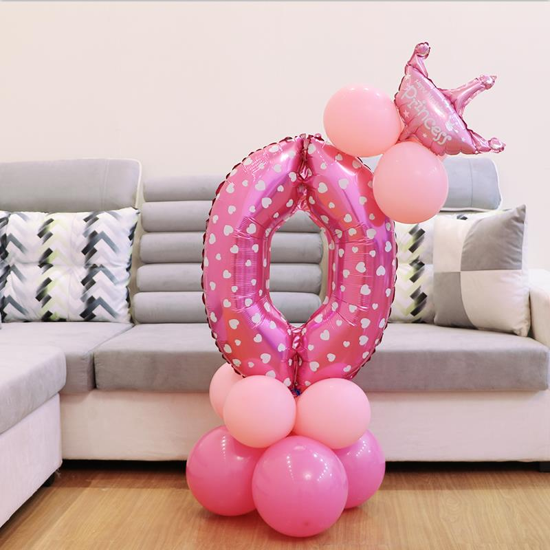 Dropwow 13pcs Set Birthday Balloons Children Number Foil 1
