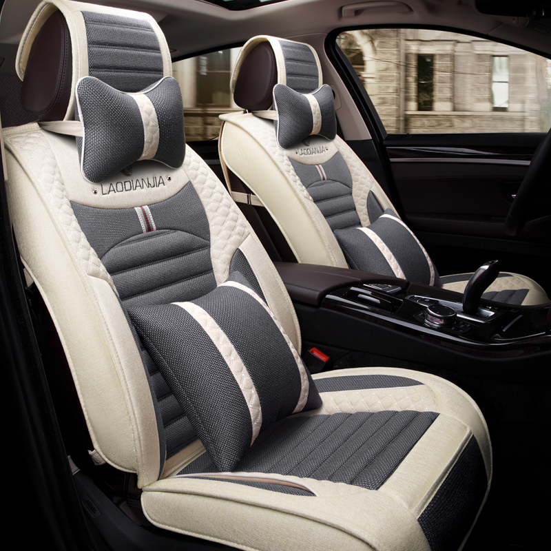 Car Seat Cover Flax Car-Covers,Car Styling For Hyundai i30 ix35 ix25 Elantra Santa Fe Sonata Tucson 2016 Solaris Veloster Accent