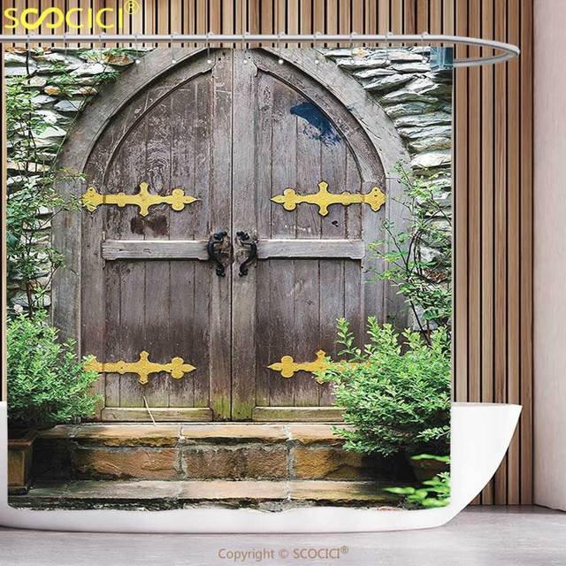 Douche Rustique décoratif rideau de douche rustique décor unique château