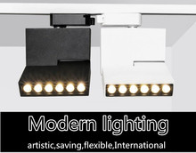3 years warranty lines Foldable 6W/12W Led track light COB Spotlight Ceiling Mounted Multiple sources lamp