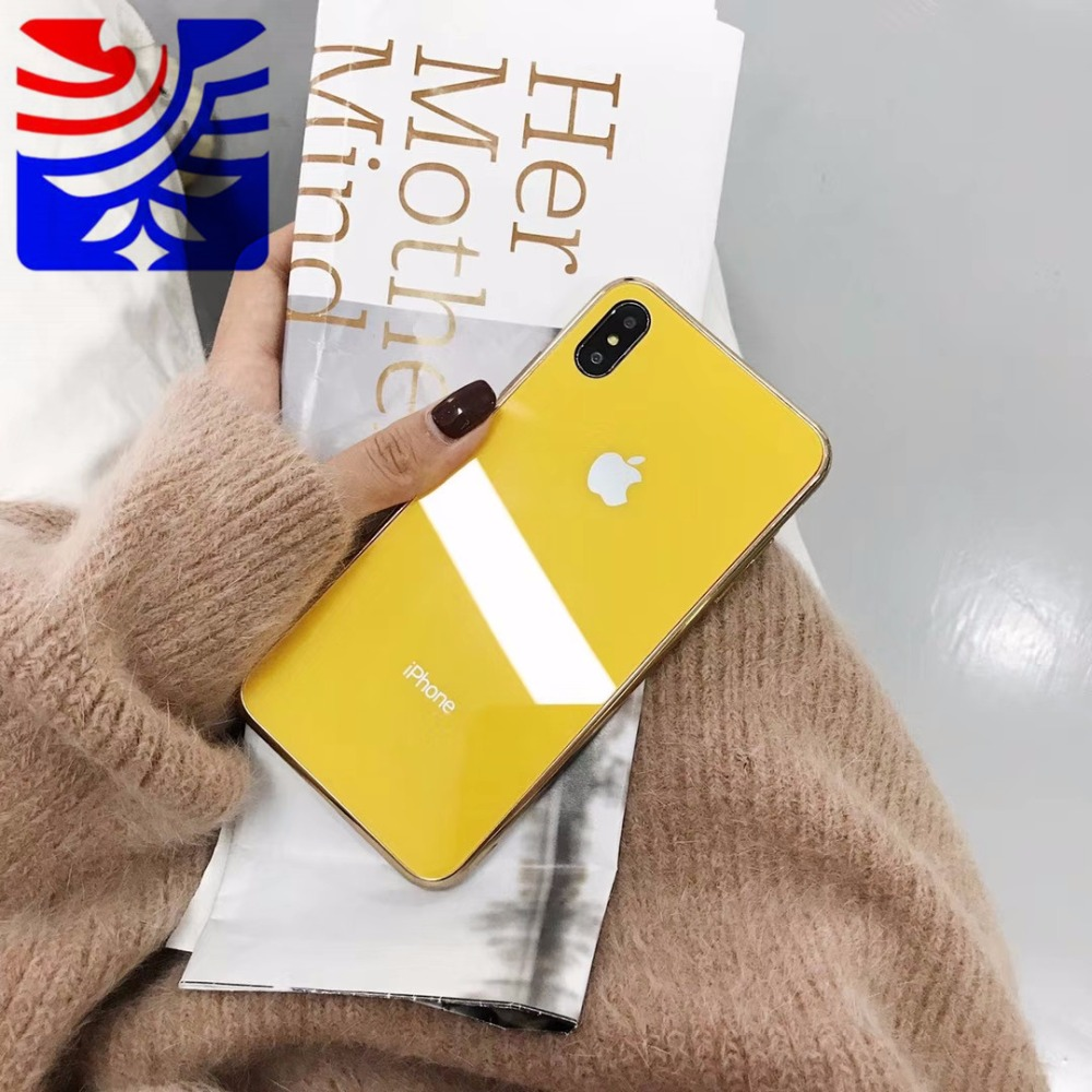 PEIPENG Luxury made of electroplated glass Anti-fall Phone Cases For iphone 6 6S 7 8 Plus X Xs Max Christmas gift Girl Simple 02