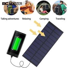 BCMaster 4W 5.5V Polysilicon Solar Panel Sunlight Power Charger Road Lamps Outdoors Solar Cells phone charging Power Bank