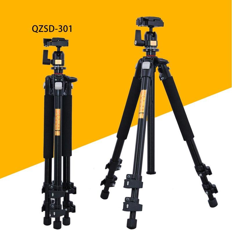 Pro QZSD Q301 Professional Tripod For SLR Cameras Photographic Ball Head Action Camera Stand Accessories Tripode Trepied Photo qzsd q999c carbon fiber professional camera tripod monopod stand
