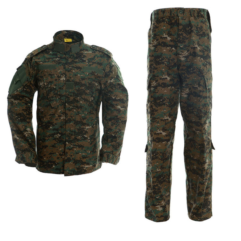 Army Tactical Military Uniform Hunting Military Camo Camouflage Suit Outdoor Combat Suit Airsoft War Game Clothing Shirt + Pants outdoor military war game multi function oxford cloth bag army green