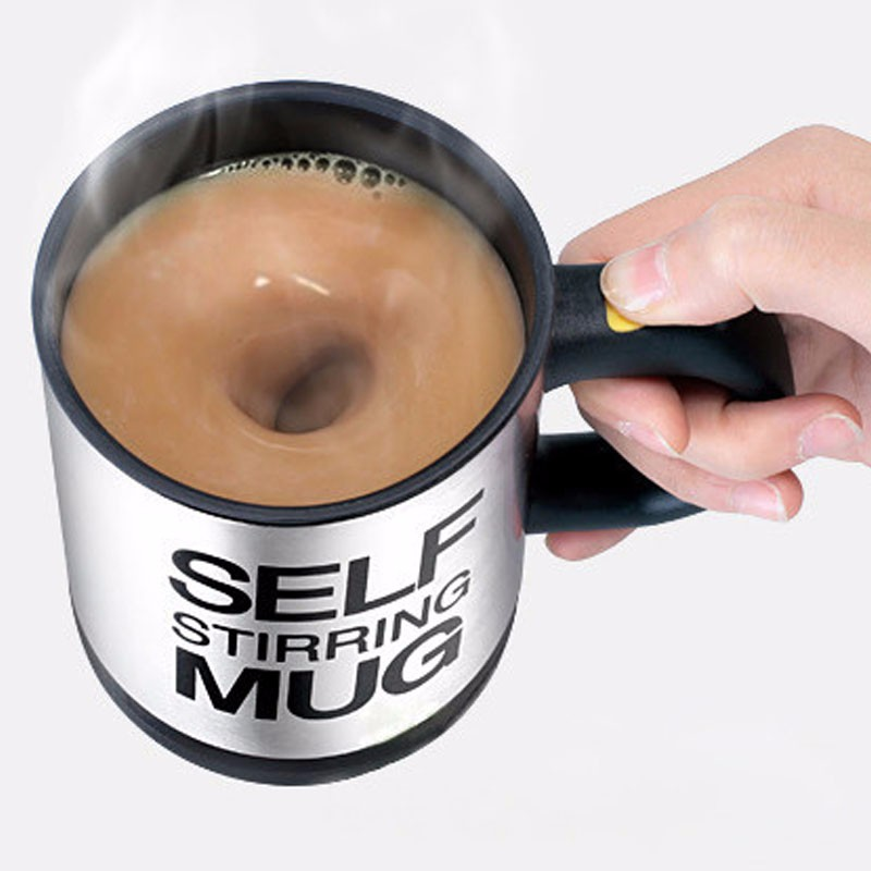 400ML Self Stirring Mug Stainless Steel mix Coffee tea Cup with Lid Automatic Electric Lazy Coffee Milk Mixing auto stirring mug