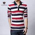 Camisa de Polo hombres carta bordado tira Polo camisa 2016 del verano marca Turn down Collar ocasional camisa de Polo del algodón más el tamaño M-5XL