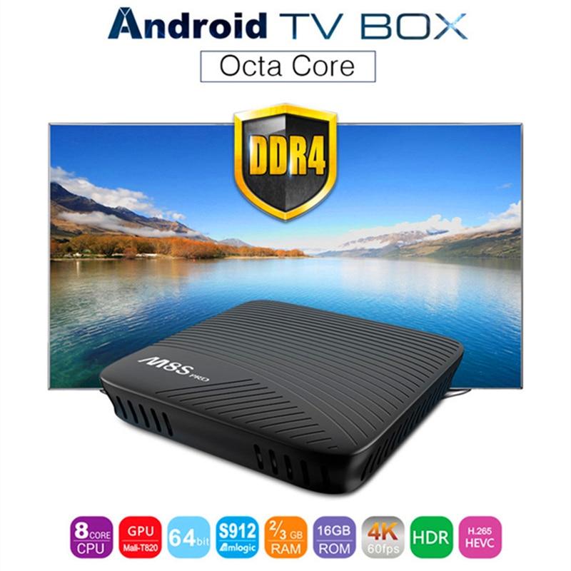 MECOOL M8S PRO Android 7.1 KODI 17.1 Smart TV Box Max RAM 2GB/3GB DDR4 16GB Octa Core 4k 2.4G/5G WiFi Media Player Set-top Box