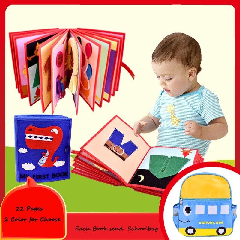 Bricolage mon premier livre Kit d'artisanat fait à la main maman couture cadeau d'anniversaire spécial pour enfants feutre paquet 22 Pages photos livres pour enfants