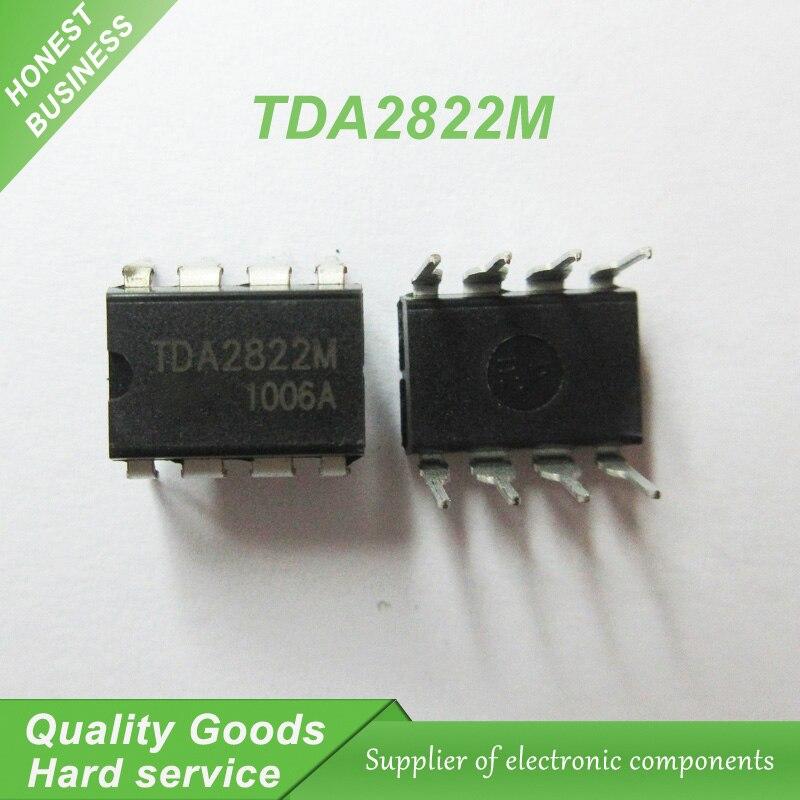 10PCS TDA2822M SCS2822 12V DIP-8 TDA2822 VOLTAGE POWER AMPLIFIER IC A+