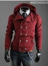 2016 Весной и Осенью новый мужской свитер с капюшоном мужская повседневная мода двубортный пиджак тенденция slim fit пальто